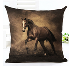 Wild Horses Cotton Linen Cushion Cover - HorsinRound - 1