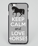 Keep Calm and Love Horses mobile phone case grey - Season Finds