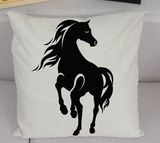 Black Horses Pillow Cases - Season Finds