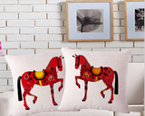 Red Horse Cushion Case - HorsinRound - 1