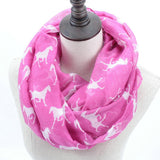 Horse Print Loop Shawl Infinity Scarf - HorsinRound - 2