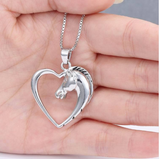 Horse in Heart Necklace - Season Finds