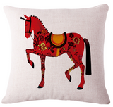Red Horse Cushion Case - Season Finds