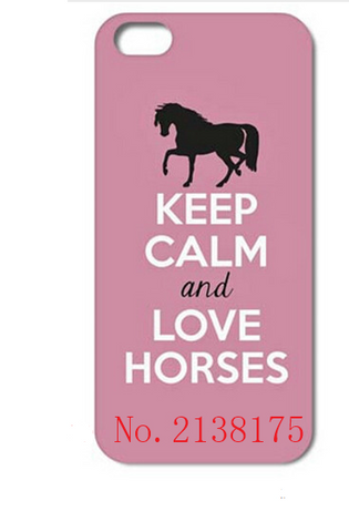 Love Horses Pink Cell Case - HorsinRound - 1
