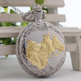 Classic pocket watch 3 horses - HorsinRound - 1