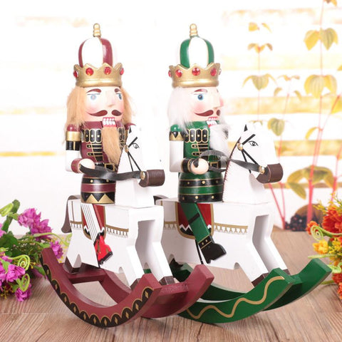 Large Rocking Horse Nutcracker 12in, 30cm - Season Finds