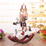 Large Rocking Horse Nutcracker 12in, 30cm - HorsinRound - 2