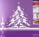Horse Christmas Tree Wall Art Sticker - HorsinRound