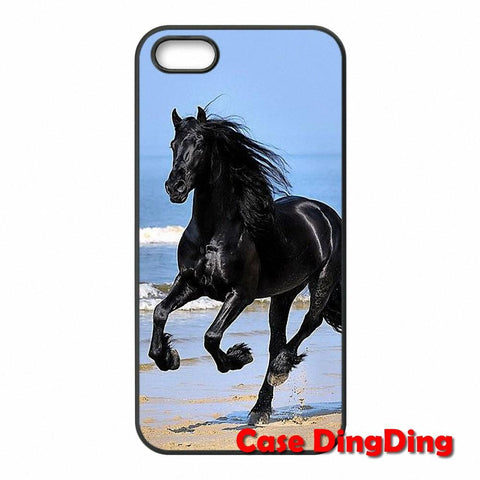 new concept 3e55d 8924b Cute phone cases customize Running Horse For iPhone 4 4S 5 5C SE 6 ...