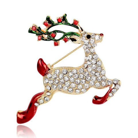 Christmas Raindeer Brooch - HorsinRound - 1