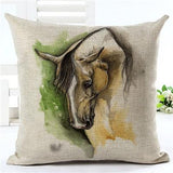 Artistic Horse Printed Cushion - Season Finds