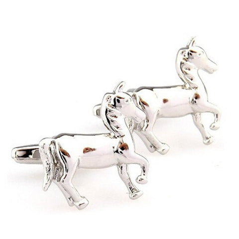 Horse Design Cuff Links - HorsinRound - 1