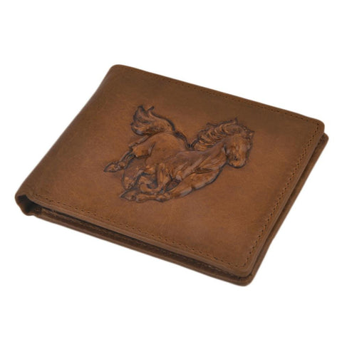 Galloping Horse Leather Men Wallet - Season Finds