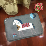 Cartoon Cute Horses Anti-slip Carpet 40x60cm/ 50x80cm