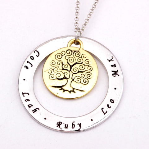 Personalized Family Tree Necklace - Season Finds