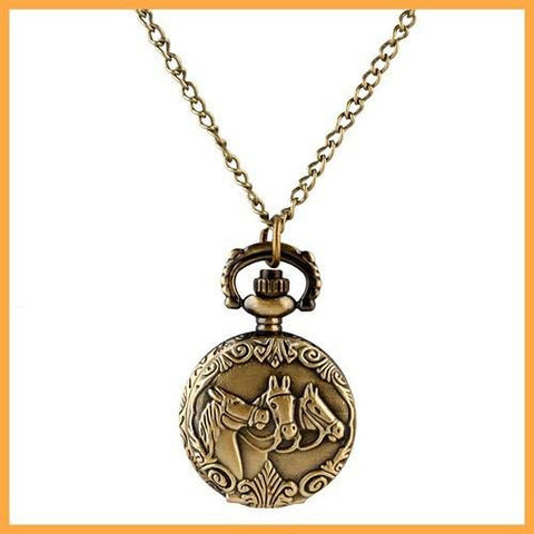 Retro Horse Pendant Watch - Season Finds