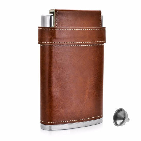 Stainless Steel Flask with 3 Cups Set with Funnel - Season Finds