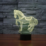 7 Colors Horse Led Night Lamp - Season Finds