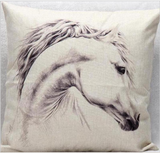 White Horse Cushion Case - HorsinRound - 3
