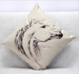 White Horse Cushion Case - HorsinRound - 2