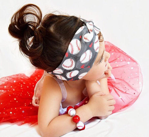 Baseball Hearts Headband