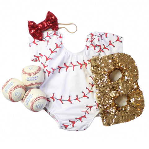 Baseball Stitches Leotard