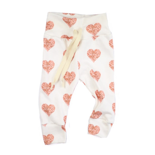 Rose Gold Hearts Joggers