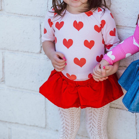 Blush & Poppy Heart Leotard