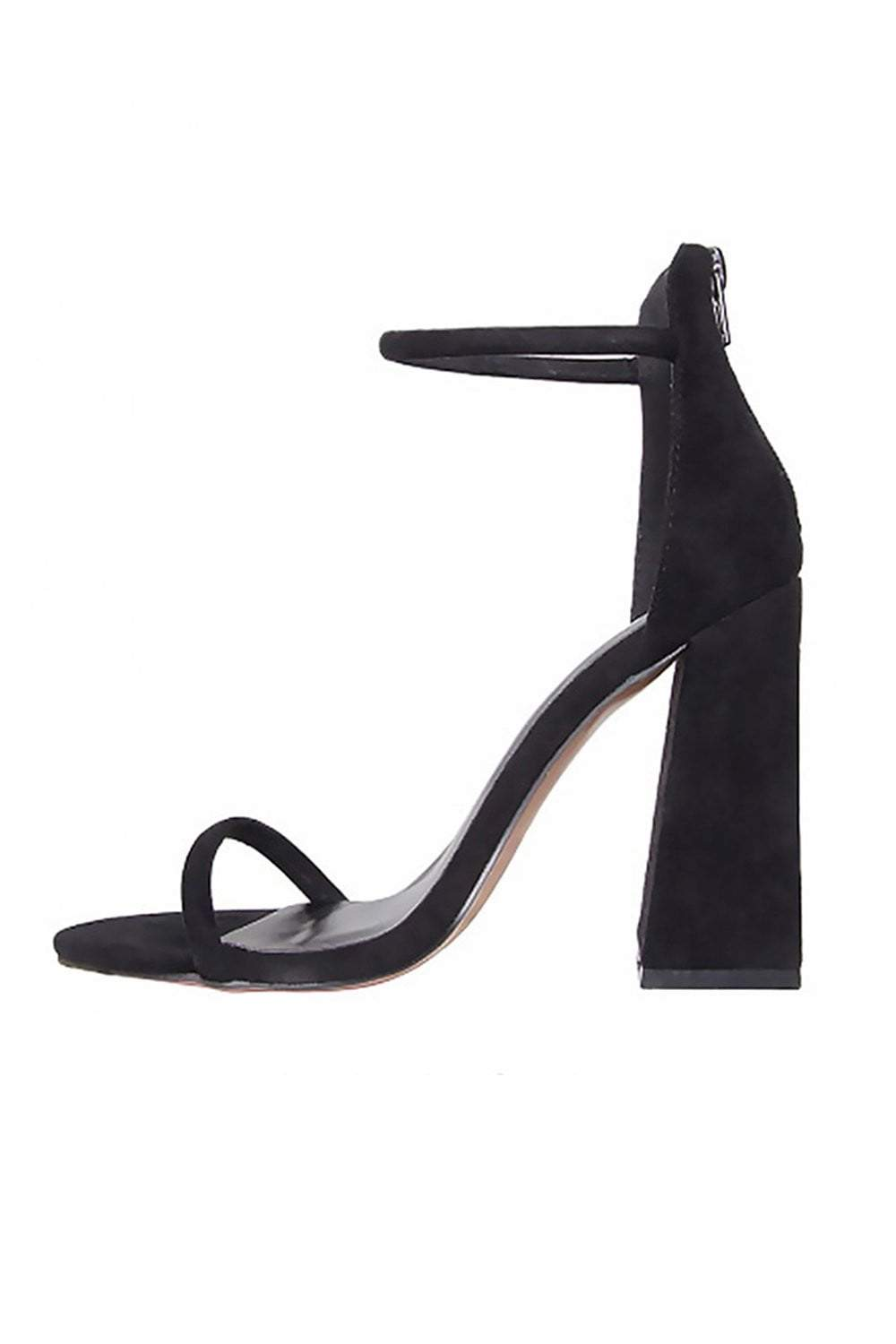 Black Barely There Block Heeled Sandals (2335396528187)