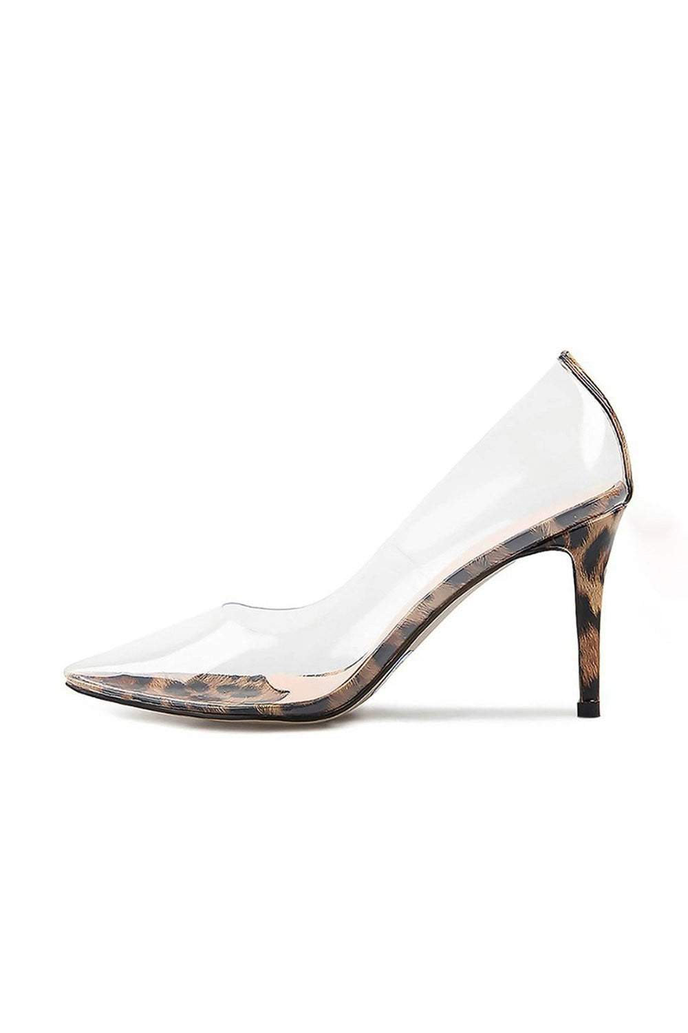Leopard Clear Court Shoes