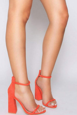 Orange Red Barely There Block Heeled Sandals (2335396495419)