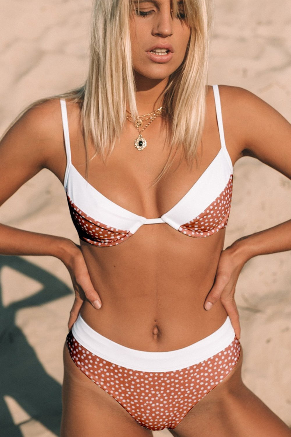 Red Polka Dot Underwire Bikini Top