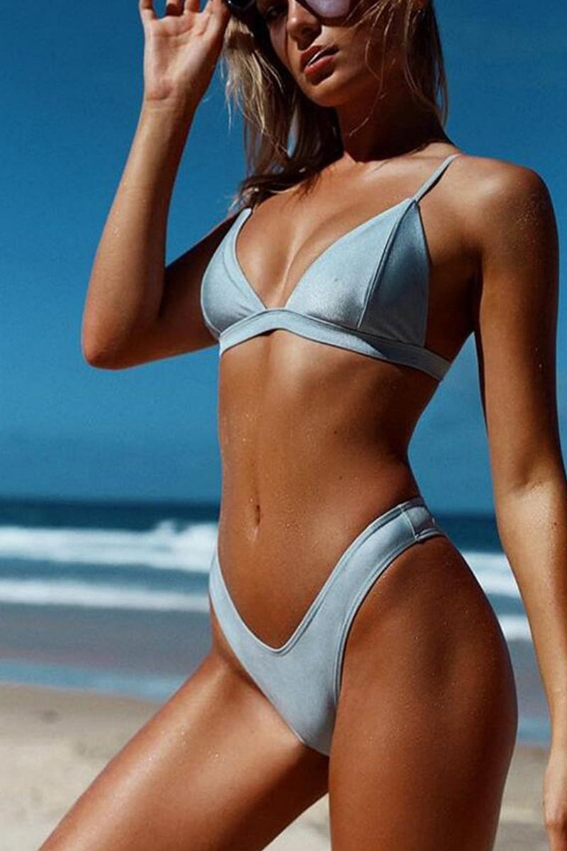 Light Blue Metallic V Cut Bikini Bottom (2180795826235)