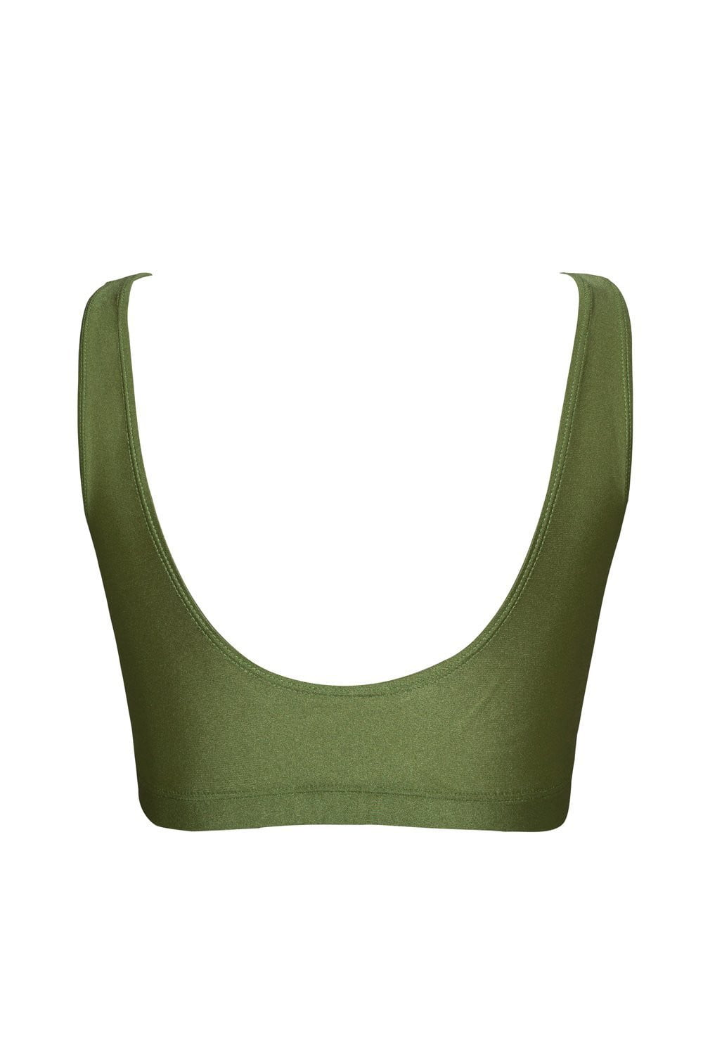 Dark Olive Green Crop Bikini Top
