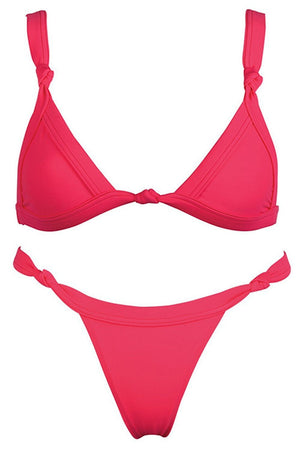 Hot Pink Knotted Bikini Top