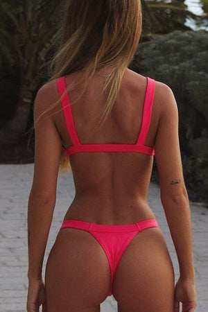 Hot Pink Knotted Bikini Bottom (2183039582267)