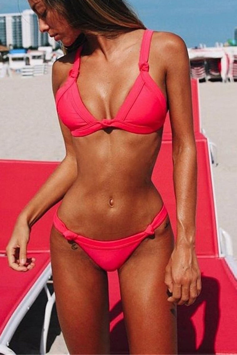 Hot Pink Knotted Bikini Top (2183037190203)