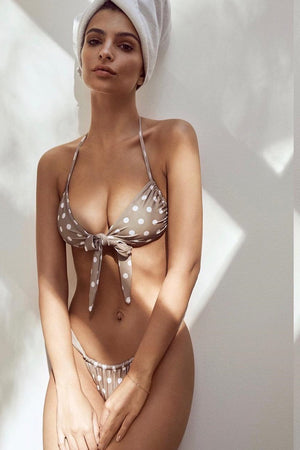 Polka Dot Brazilian Adjustable Bikini Bottom (2219984388155)