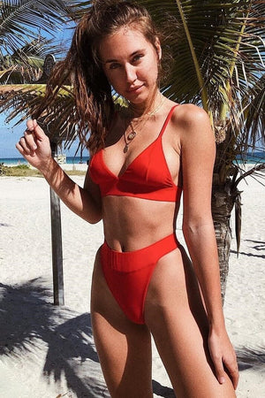Red Triangle Bikini Top (2198380806203)