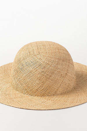 Bao Straw Dome Crown Sun Hat