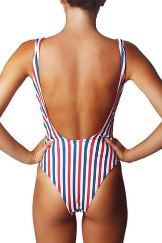 Floralkini Multicolor Striped One Piece Swimsuit - FloralKini