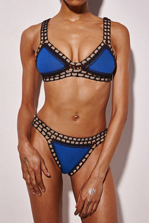 Black Handmade Crochet Reversible Triangle Bikini Bottoms
