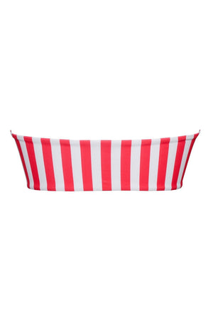 Red White Striped Bandeau Ring Bikini Top (2079025791035)