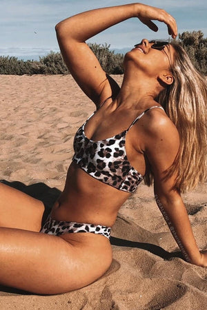 Leopard High Cut Bikini Bottoms