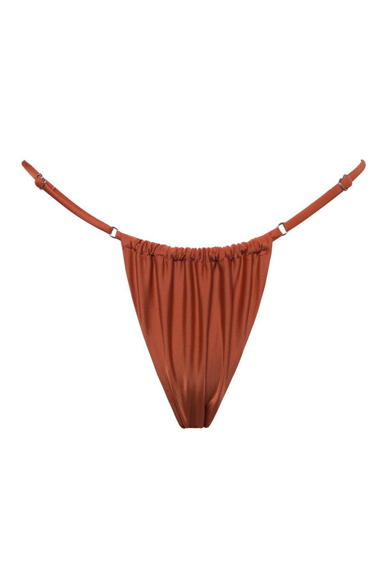 Rust Brazilian String Bikini Bottoms