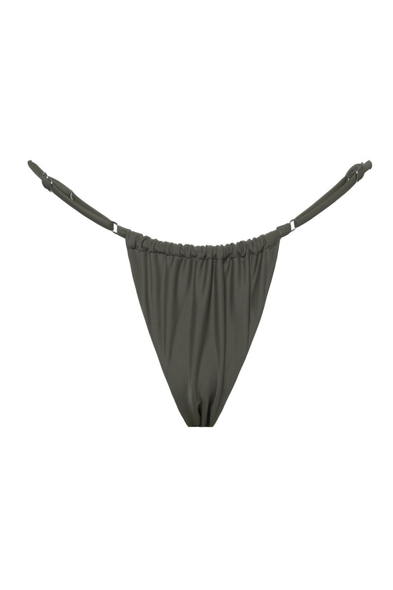 Military Green Brazilian String Bikini Bottoms