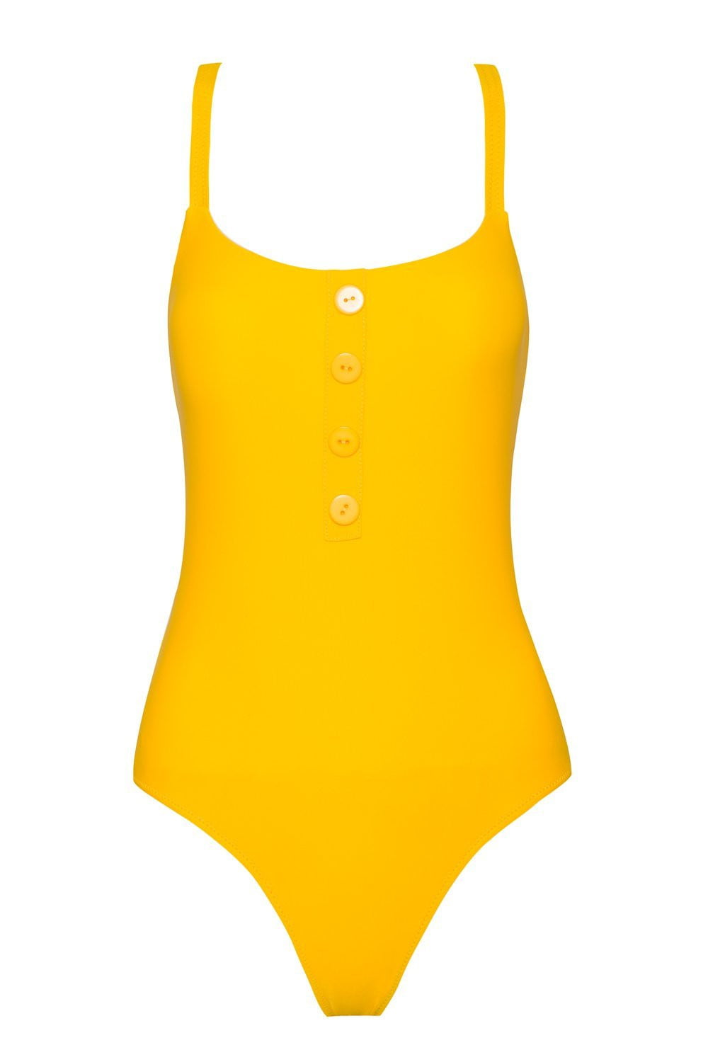 MUSTARD YELLOW ONE PIECE SWIMSUIT