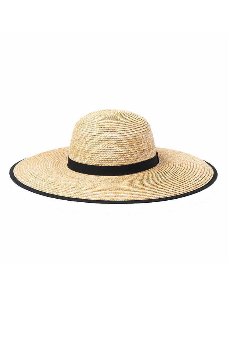 Wheat Straw Ribbon Trim Dome Crown Sun Hat
