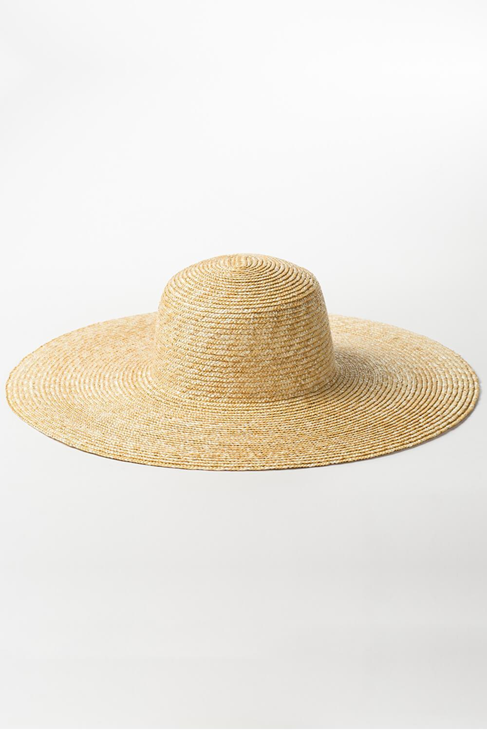 Wheat Straw Dome Crown Sun Hat