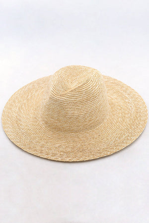 Wheat Straw Panama Fedora Sun Hat